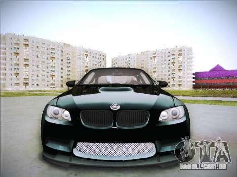 BMW M3 E92 Hamann 2012 para GTA San Andreas vista interior