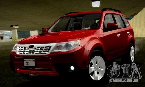 Subaru Forester XT 2008 v2.0 para GTA San Andreas vista direita