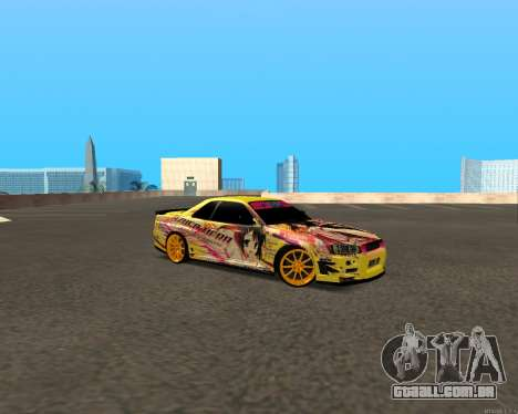 Nissan Skyline R34 Azusa Mera para GTA San Andreas