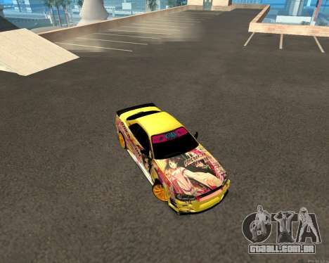 Nissan Skyline R34 Azusa Mera para GTA San Andreas vista traseira