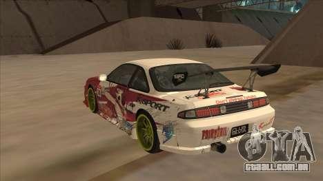 Nissan 200SX S14A Fairy Tail para GTA San Andreas vista direita