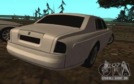 Rolls-Royce Phantom v2.0 para GTA San Andreas esquerda vista