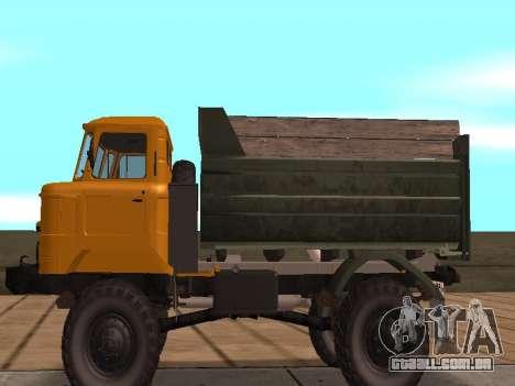 Caminhão de gás-66 para GTA San Andreas traseira esquerda vista