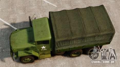 Base militar caminhão AM geral M35A2 1950 para GTA 4 vista direita