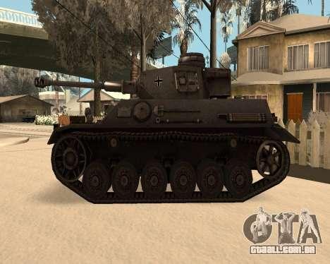 Panzerkampfwagen para GTA San Andreas esquerda vista