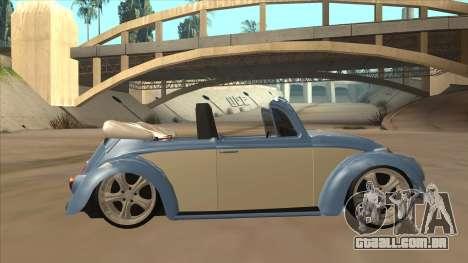 VW Beetle 1969 para GTA San Andreas traseira esquerda vista