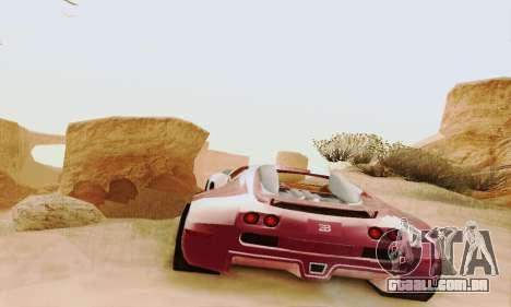 Bugatti Veyron 16.4 Concept para GTA San Andreas vista traseira