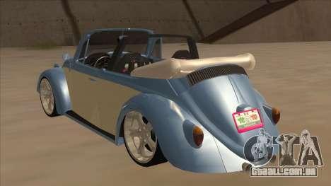 VW Beetle 1969 para GTA San Andreas vista traseira