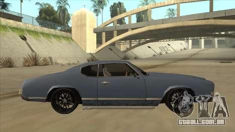 Tuned Sabre para GTA San Andreas traseira esquerda vista