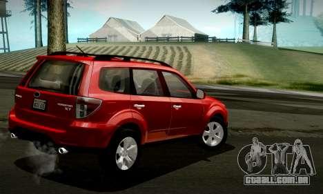 Subaru Forester XT 2008 v2.0 para GTA San Andreas vista superior