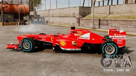 Ferrari F138 2013 v1 para GTA 4 esquerda vista