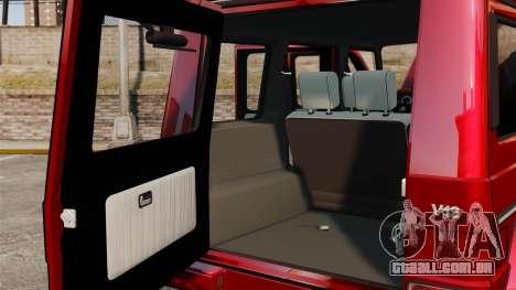 Mercedes-Benz G500 para GTA 4 vista interior