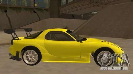 Mazda RX7 FD3S RE Amemyia Touge Style para GTA San Andreas traseira esquerda vista