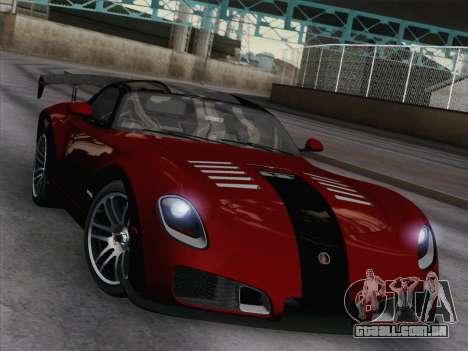 Devon GTX 2010 para GTA San Andreas vista interior