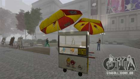 O atualizado quiosques e carrinhos de dogovye qu para GTA 4 oitavo tela