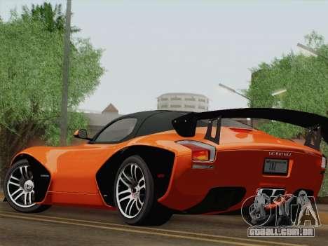 Devon GTX 2010 para vista lateral GTA San Andreas