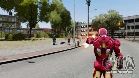 Ferro homem IV v 2.0 para GTA 4 por diante tela