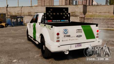 Ford F-150 v3.3 Border Patrol [ELS & EPM] v1 para GTA 4 traseira esquerda vista