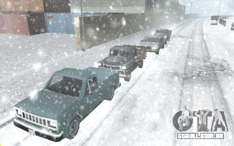 Snow San Andreas 2011 HQ - SA:MP 1.1 para GTA San Andreas terceira tela