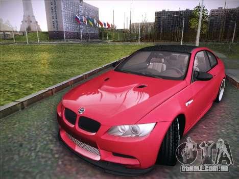 BMW M3 E92 Hamann 2012 para GTA San Andreas traseira esquerda vista
