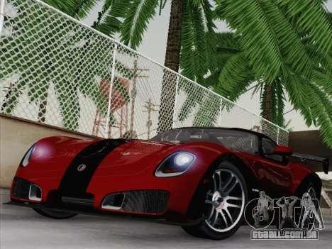 Devon GTX 2010 para GTA San Andreas vista traseira