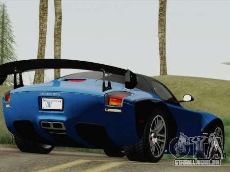 Devon GTX 2010 para GTA San Andreas esquerda vista
