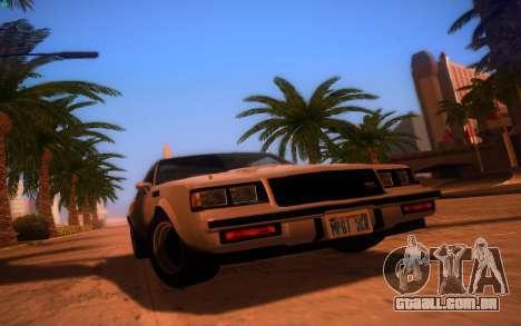 ENBS V3 para GTA San Andreas por diante tela
