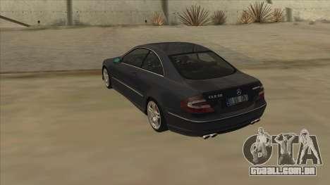 Mercedes-Benz CLK55 AMG 2003 para GTA San Andreas vista direita