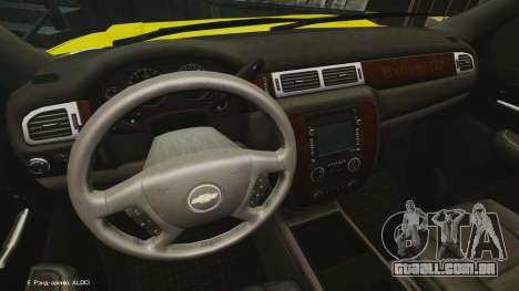 Chevrolet Suburban Los Santos Lifeguard [ELS] para GTA 4 vista de volta