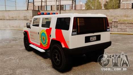Nova coloração Patriot Noose para GTA 4 traseira esquerda vista