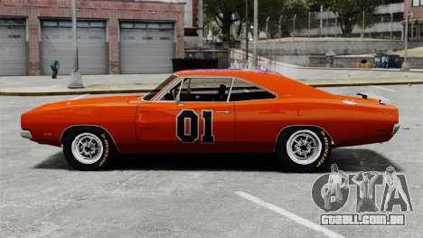 Dodge Charger 1969 General Lee v2 para GTA 4 esquerda vista