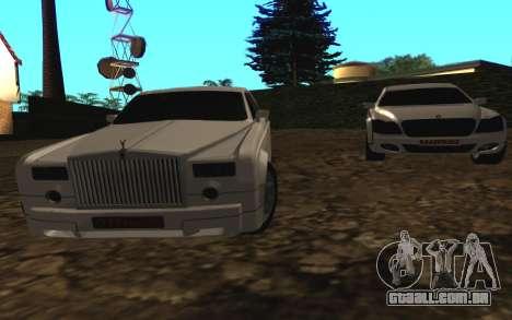 Rolls-Royce Phantom v2.0 para GTA San Andreas traseira esquerda vista