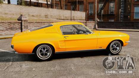 Ford Mustang 1967 Classic para GTA 4 esquerda vista
