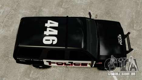 Cavalgada de patrulha para GTA 4 vista direita