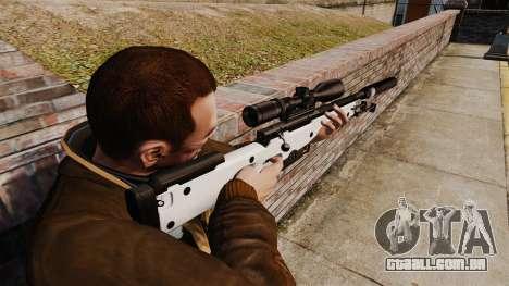 Rifle de sniper L115A1 AW com um silenciador v1 para GTA 4 segundo screenshot
