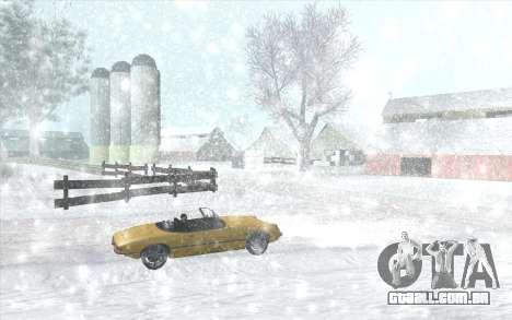 Snow San Andreas 2011 HQ - SA:MP 1.1 para GTA San Andreas sexta tela