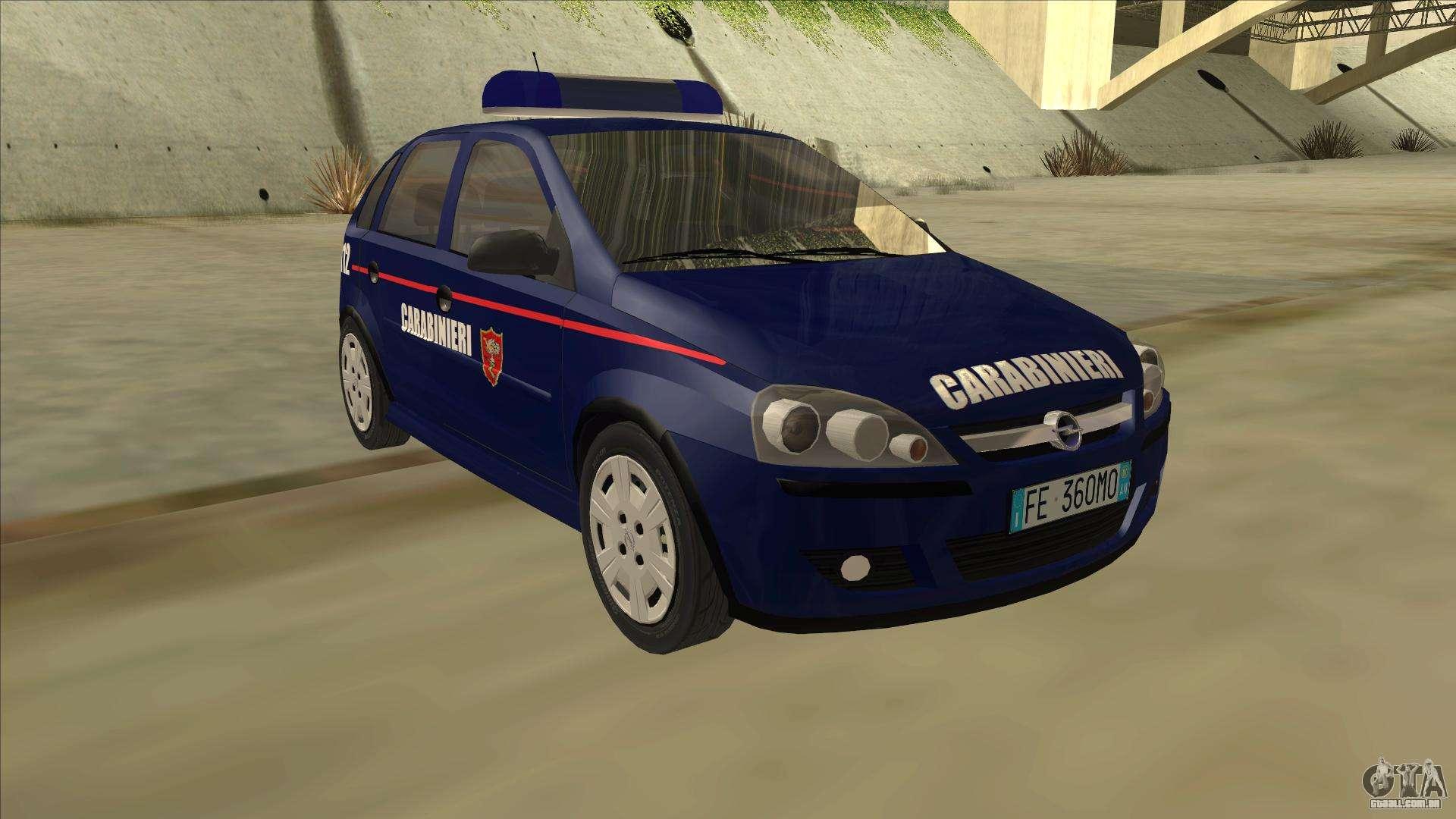Opel Corsa 2005 Carabinieri Para Gta San Andreas