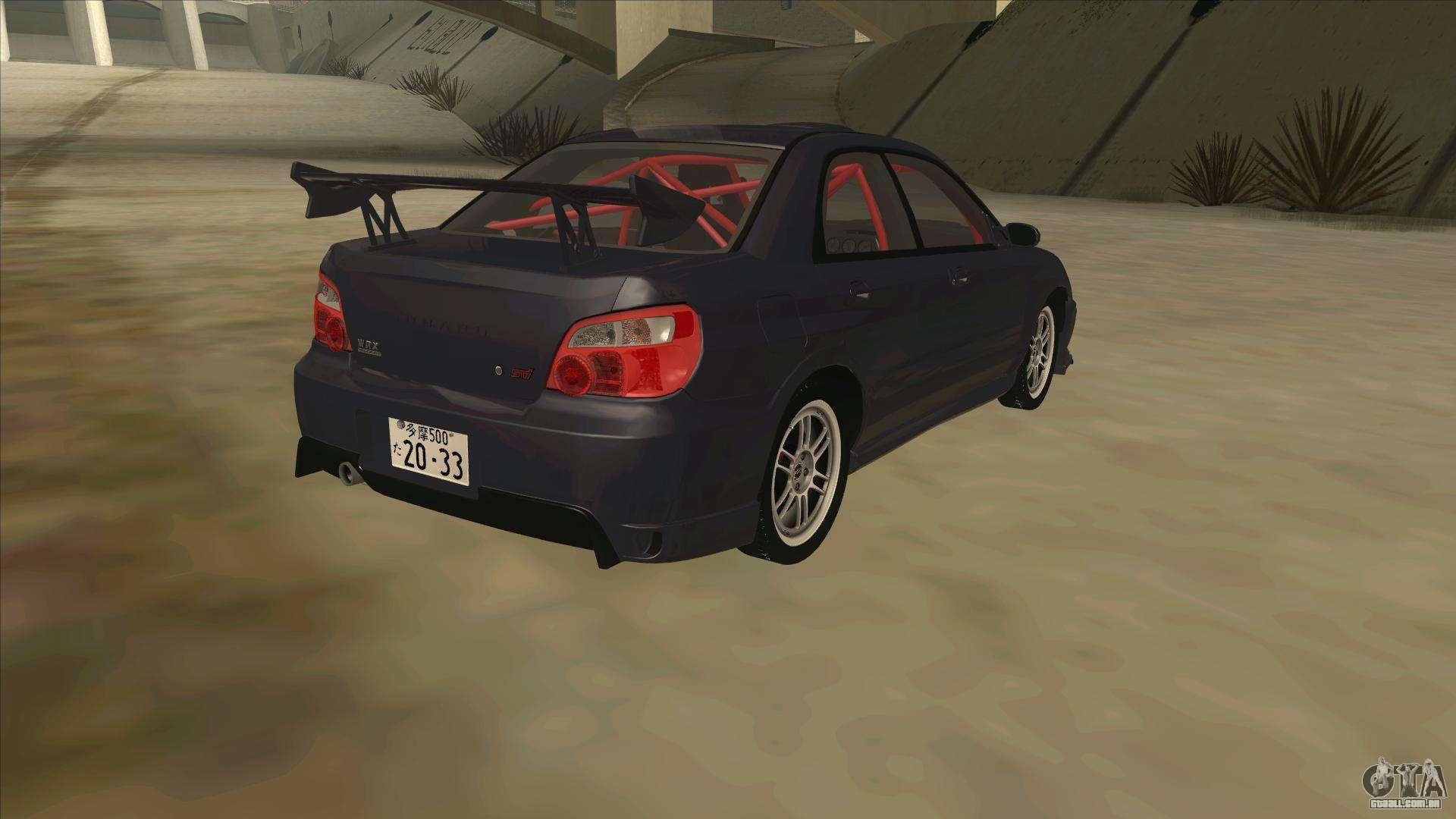 Subaru Impreza Wrx Sti Drift 2004 Para Gta San Andreas