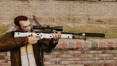 Rifle de sniper L115A1 AW com um silenciador v1