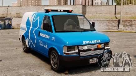 Ambulância LCEMS Speedo para GTA 4