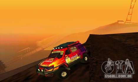 UAZ Patriot julgamento para GTA San Andreas vista traseira