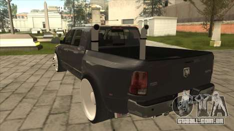 Dodge Ram Laramie Low para GTA San Andreas vista traseira