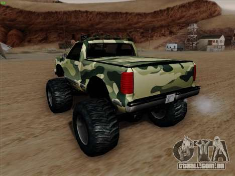 Camuflagem para monstro para GTA San Andreas vista inferior