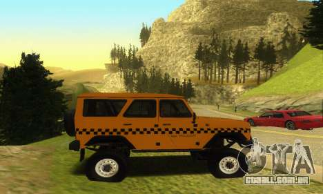 UAZ Hunter táxi para GTA San Andreas vista interior