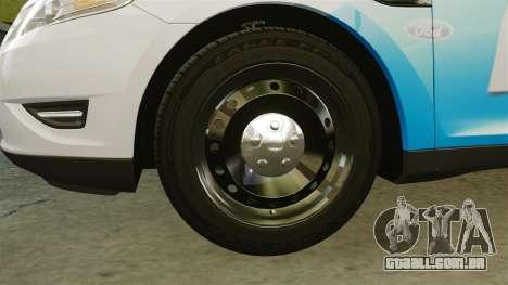 Ford Taurus 2010 Police Interceptor Detroit para GTA 4 vista de volta