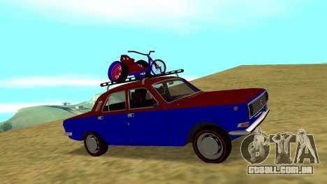 GAZ-24 Volga divertido para GTA San Andreas vista traseira