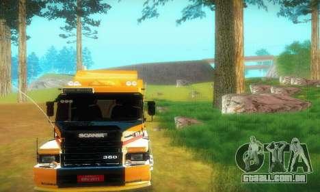 TopLine Scania 113 h 360 para GTA San Andreas vista traseira