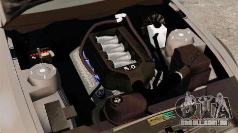 Ford Mustang GT 2013 para GTA 4 vista interior