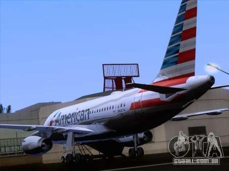 Airbus A319-112 American Airlines para GTA San Andreas vista inferior