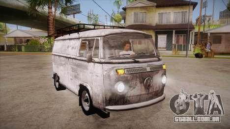 Volkswagen Transporter T2 Custom para GTA San Andreas vista traseira